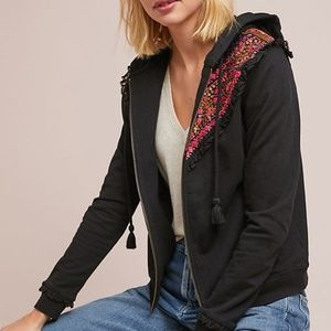 Anthropologie Embroidered Hoodie